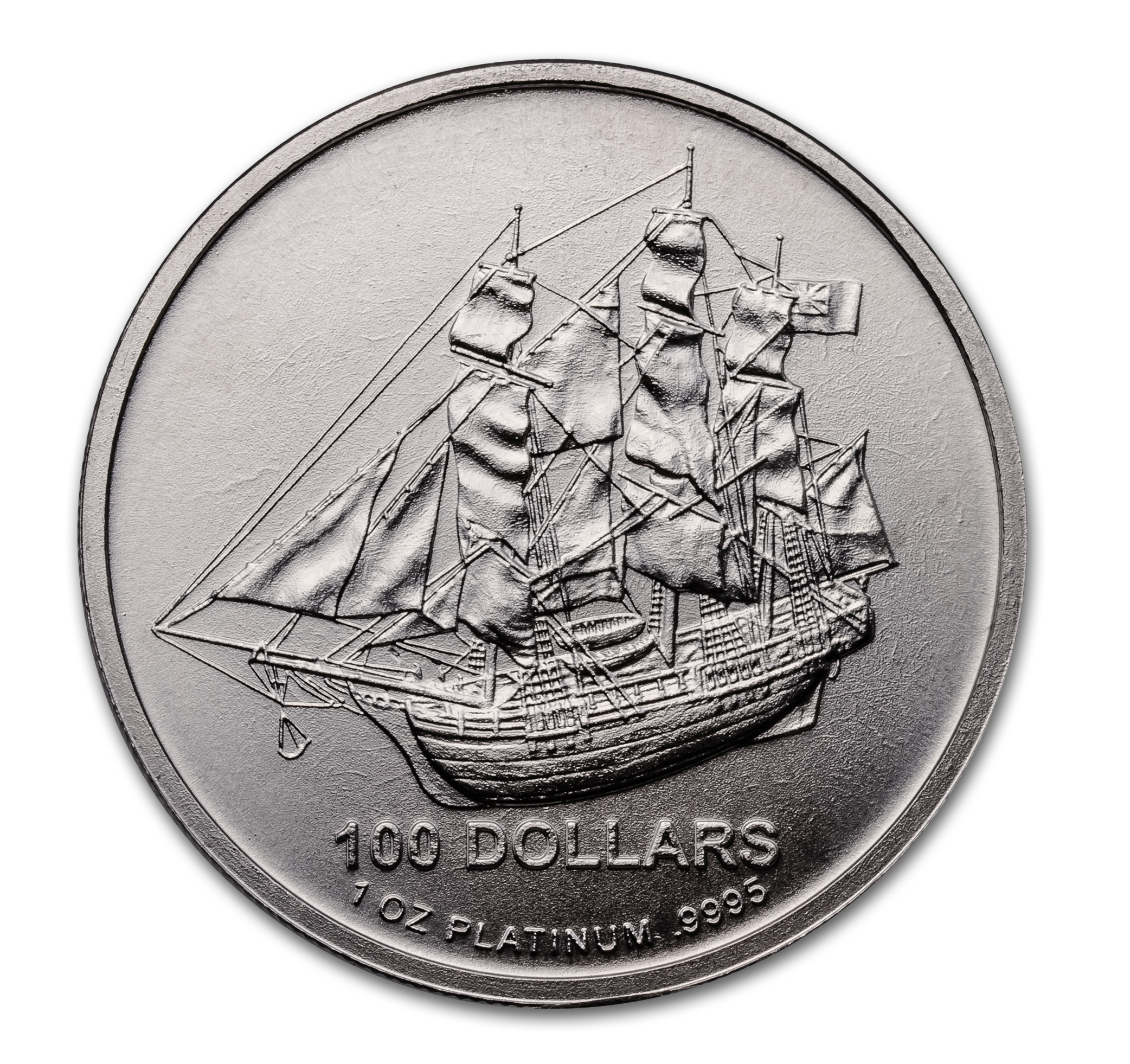 2009 Cook Islands 1 oz Platinum Bounty Coin